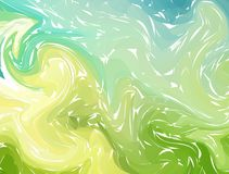 Marbling. Green Blue Marble texture. Paint splash. Colorful fluid. Abstract liquid colored background. Vector illustration Stock Photos