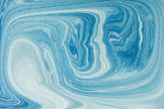 Marbling paint- turquise abstract wave watercolour. Gold marble ink. Paint marble texture- abstract wave watercolour. Marbleized effect- decor wall. Sea minerals stock photos
