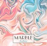 marbling Textura de mármol Fondo colorido abstracto del vector Pinte el chapoteo stock de ilustración