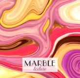 marbling Textura de mármore Fundo colorido abstrato artístico Respingo da pintura Líquido colorido Cores brilhantes ilustração stock