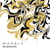 Marbling texture background. Abstract marble luxury design with golden glitter elements. Vector illustration. Stock Photo