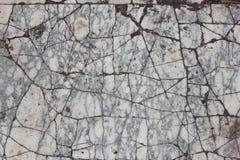 Marbre gris et blanc criqué Images stock