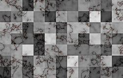 Marbre texturisé avec les blocs carrés géométriques de gradient Remous et ondulations naturels noirs et d'or sur le gris abrégez  illustration de vecteur
