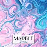 marbrer Texture de marbre Fond coloré abstrait de vecteur Peignez l'éclaboussure Fluide coloré image stock