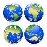 Marbres bleus de la terre illustration libre de droits