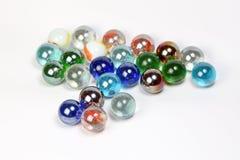 Marbres colorés en verre Images libres de droits