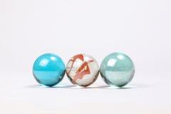 Marbres colorés en verre Photo libre de droits