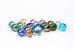 Marbres colorés en verre Photos stock