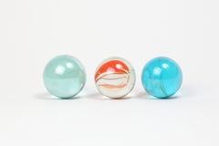Marbres colorés en verre Photo stock