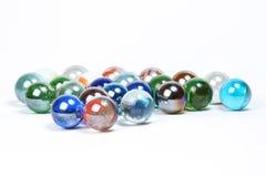 Marbres colorés en verre Photographie stock