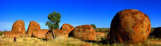 Marbres de diables, territoire du nord, Australie photographie stock