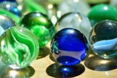 Marbres en verre photos libres de droits