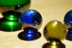 Marbres en verre Photographie stock