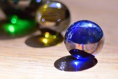Marbres en verre Photos stock