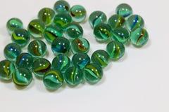 Marbres en verre colorés Photographie stock