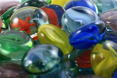 Marbres en verre colorés Photo libre de droits