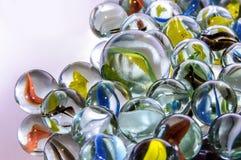 Marbres en verre colorés Photos stock