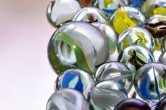 Marbres en verre colorés Images libres de droits