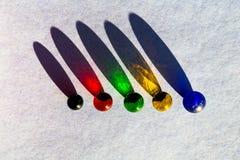 Marbres et ombres en verre Image stock