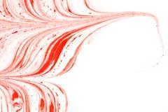 Marbrure de rouge et blanche Photo libre de droits
