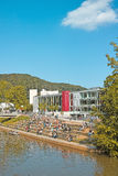Marburg Campus at Lahn River Stock Photo