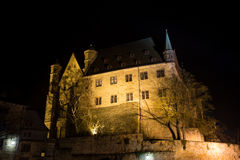 Marburg castle at night Stock Images