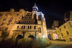 Marburg castle at night Stock Image