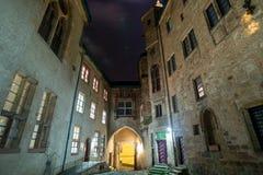 Marburg castle at night Stock Photo