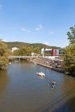 Marburg-Flussufer Lizenzfreies Stockfoto