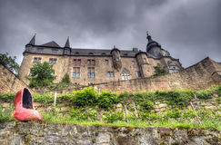 Marburg kasztel, Niemcy fotografia royalty free