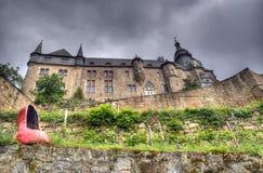 Marburg-Schloss, Deutschland lizenzfreie stockfotografie