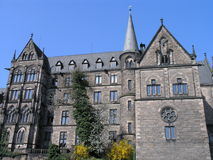 Marburg University. Front view of the old university in Marburg, Germany Stock Photo