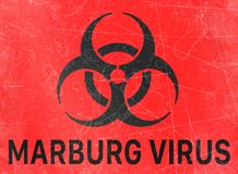 Marburg virus, biohazards, refer to biological substances that pose a threat to the health of living organisms, viruses. Marburg virus, sign indicating the stock illustration