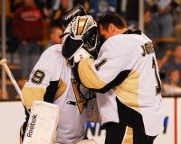 Marc-Andre Fleury e Brent Johnson Peguins (NHL) Fotografie Stock Libere da Diritti