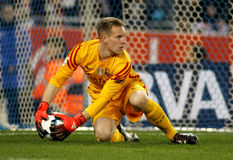 Marc-Andre ter Stegen of FC Barcelona. During a Spanish Kings Cup match against RCD Espanyol at the Power8 stadium on January 13, 2016 in Barcelona, Spain Stock Photo