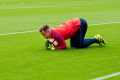 Marc Andre Ter Stegen plays at the La Liga match between Valencia CF and FC Barcelona royalty free stock photo