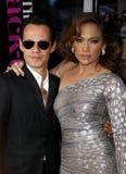 Marc Anthony und Jennifer Lopez stockbilder