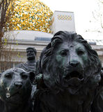 Marc Anton and Lions Statue Stock Photo