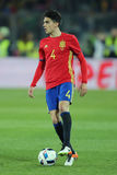 Marc Bartra. Aregall defender of the Spanish National Football Team, pictured during the friendly match between Romania and Spain, played at Cluj Arena Stadium royalty free stock photos