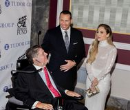 Marc Buoniconti, Alex Rodriguez, and Jennifer Lopez. Actress, singer, dancer, and pop superstar Jennifer Lopez attends the 33rd Annual Great Sports Legends stock images