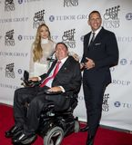 Marc Buoniconti, Alex Rodriguez och Jennifer Lopez royaltyfri foto