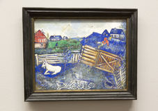 Marc Chagall - bij het museum van Albertina in Wenen stock fotografie