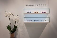 Marc Jacobs glasses on display at Mido 2014 in Milan, Italy Royalty Free Stock Photos