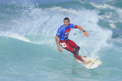 Marc Lacomare surfing. The Quicksilver Pro France 2011 Stock Images