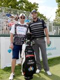 Marc Leishman at the Barclays Pro-Am, Birdies for the Brave Edison,NJ August 26,2015. EDISON,NJ-AUGUST 26:Marc Leishman with his Military Caddie during the stock photo