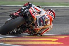 Marc Marquez ΟΜΆΔΑ REPSOL HONDA Grand Prix Movistar Aragà ³ ν Στοκ εικόνες με δικαίωμα ελεύθερης χρήσης