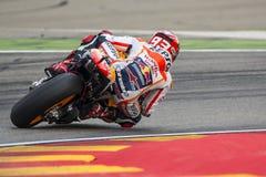 Marc Marquez ΟΜΆΔΑ REPSOL HONDA Grand Prix Movistar Aragà ³ ν MotoGP Στοκ Εικόνες