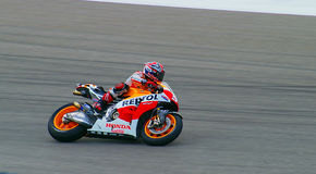 Marc Marquez at Austin MotoGP 2014. Marc Marquez has won the first 6 races of the 2014 MotoGP season beating the best such as Valentino Rossi, Jorge Lorenzo and stock image