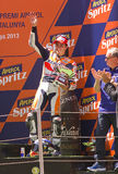 Marc Marquez in the podium Royalty Free Stock Photography