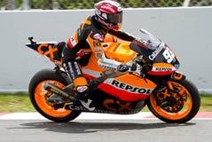Marc Marquez racing (Moto2) Stock Image